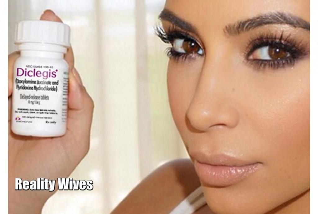 Kim Kardashian West-Diclegis-pill-wd
