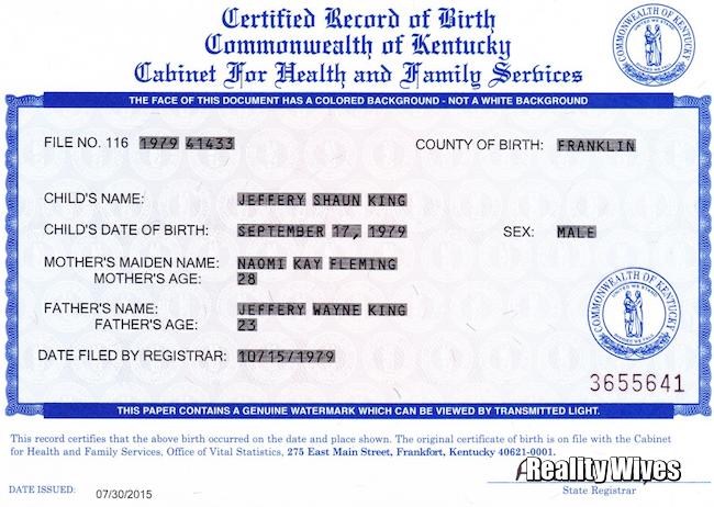 Shaun King-birth certificate