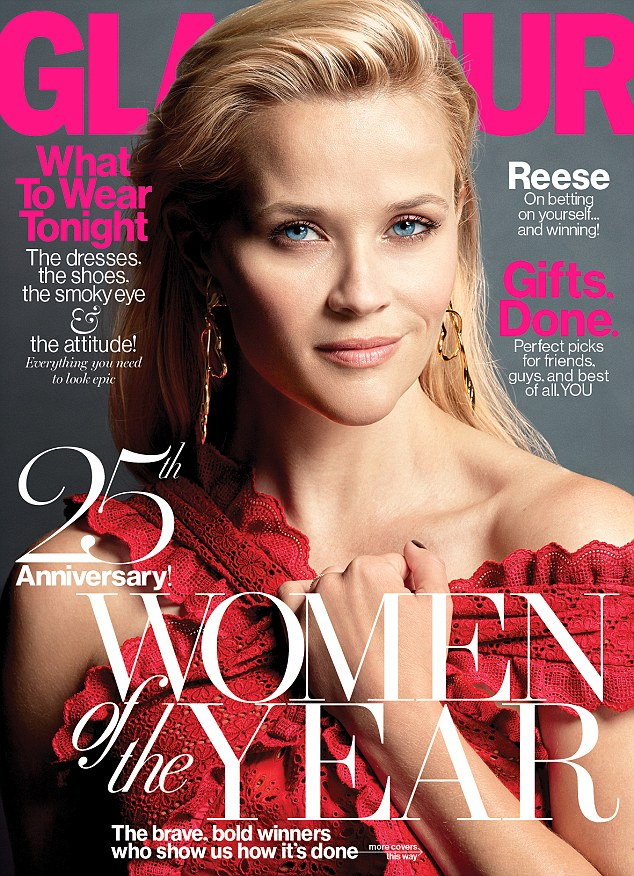 Reese Witherspoon, mother of three appeared on the cover of Glamour's December issue
