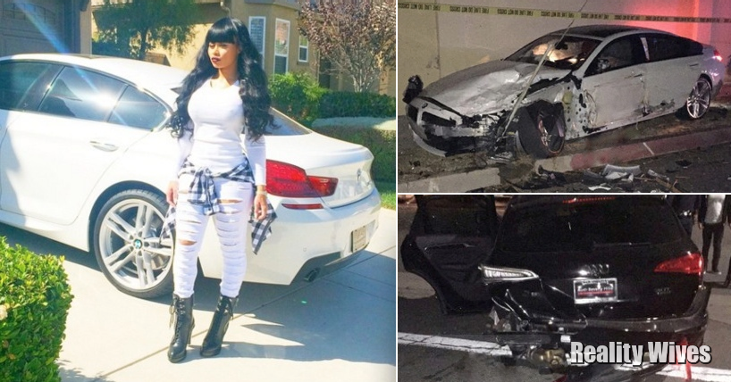 Blac Chyna-BMW-Audi-Car crash