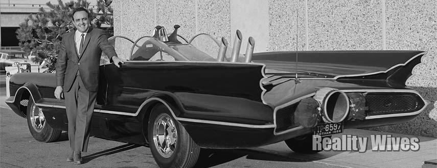 George Barris-Batmobile-bw