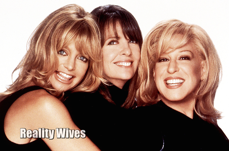 Goldie Hawn, Diane Keaton & Bette Midlee in 1996 for The First Wives Club