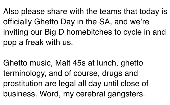"""Ghetto Day"" - What in the world?"
