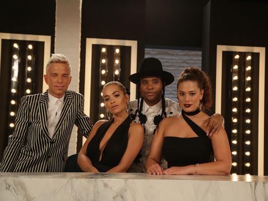Drew Elliott, Rita Ora, Law Roach & Ashley Graham
