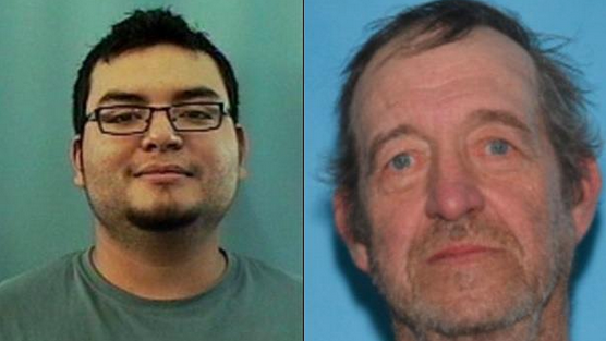 Jason is being charged with attacking 25-year-old Andres E Barbosa (left) & Charles Leamon Albee, 68, (right) between June 25-29.