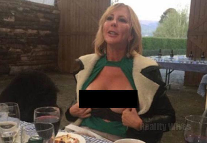 Vicki exposes her breasts on national television