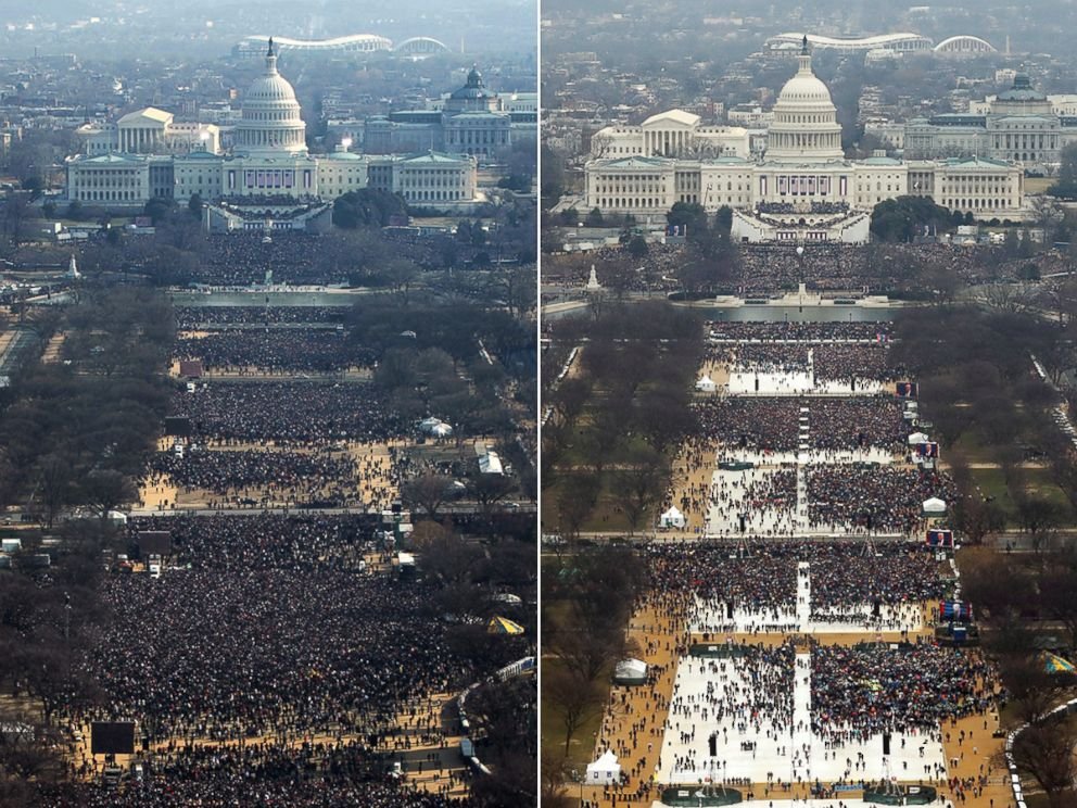President Obama's inauguration vs Donald Trump's