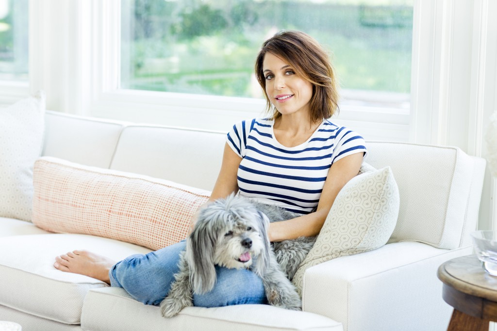 Bethenny Frankel, photographed at her home in Long Island, NY on June 30th, 2015 by Larsen & Talbert. hair: DJ Quintero/Jed Root; makeup: Deanna Melluso/The Wall Group; styling: Julia Kitziger; prop styling: Aaron Kirsten.