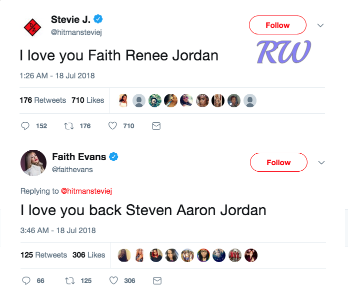 Stevie J-Faith Evans-tweets
