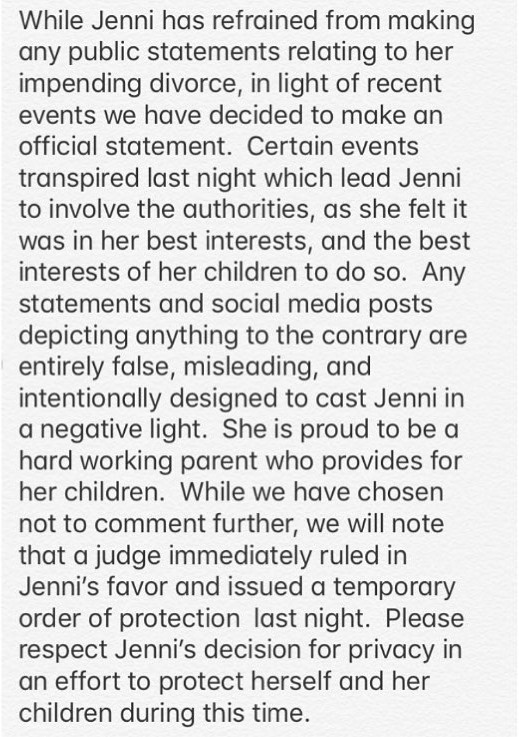 Jenni Farley-statement
