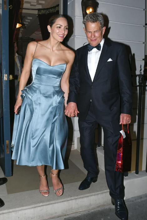 Later in the day, they were spotted leaving their wedding reception in Mayfair on Friday night