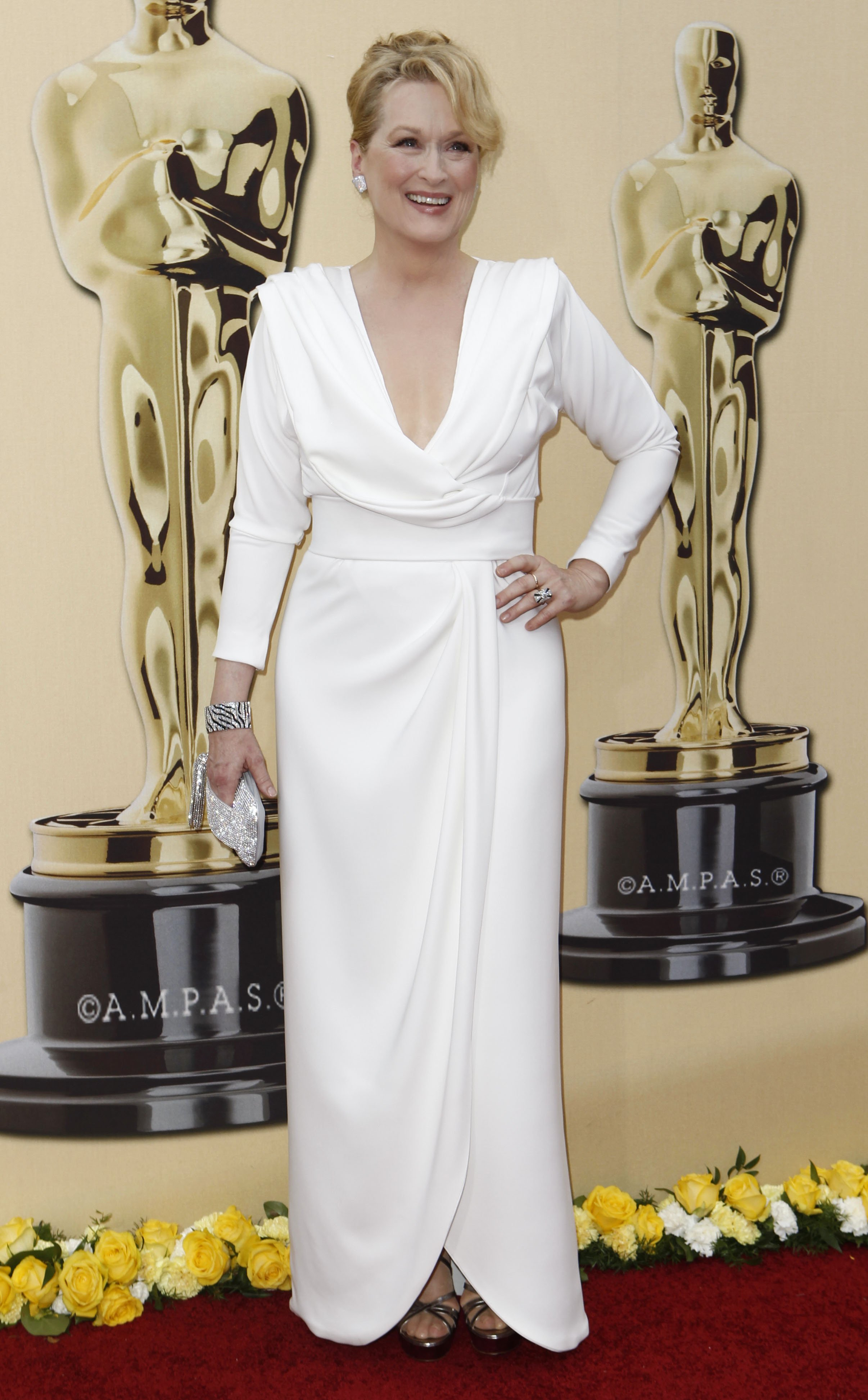 Meryl Streep in a Chris March design at the Oscars in 2010