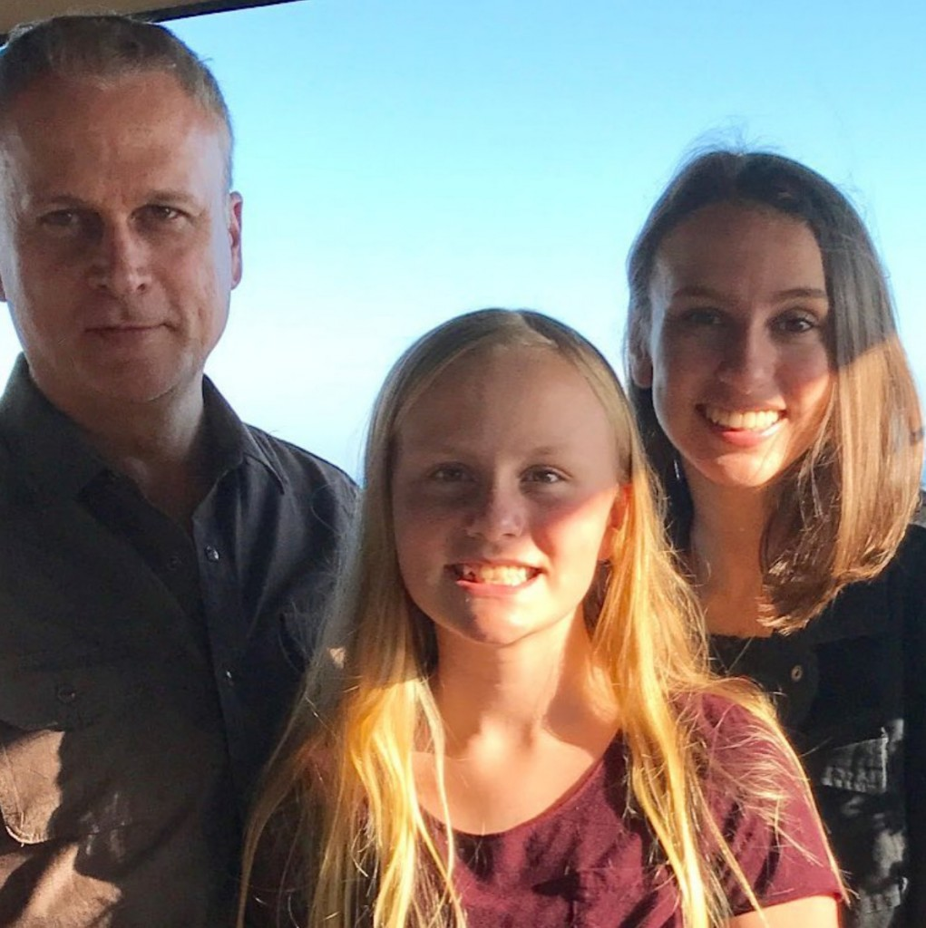 Simon with daughter, Sophie & Sidney