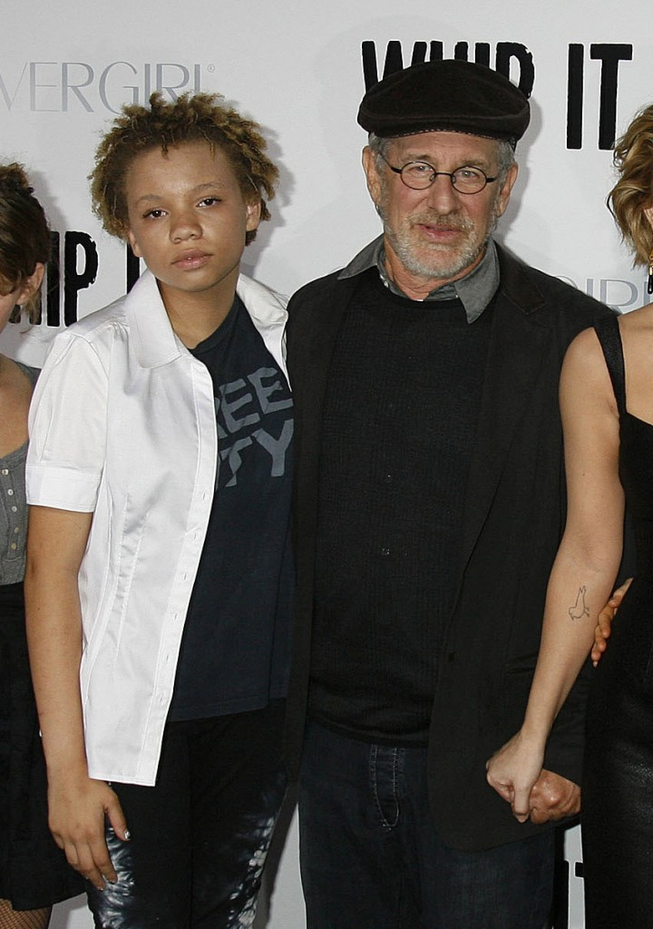 Mikaela & her dad Steven Spielberg
